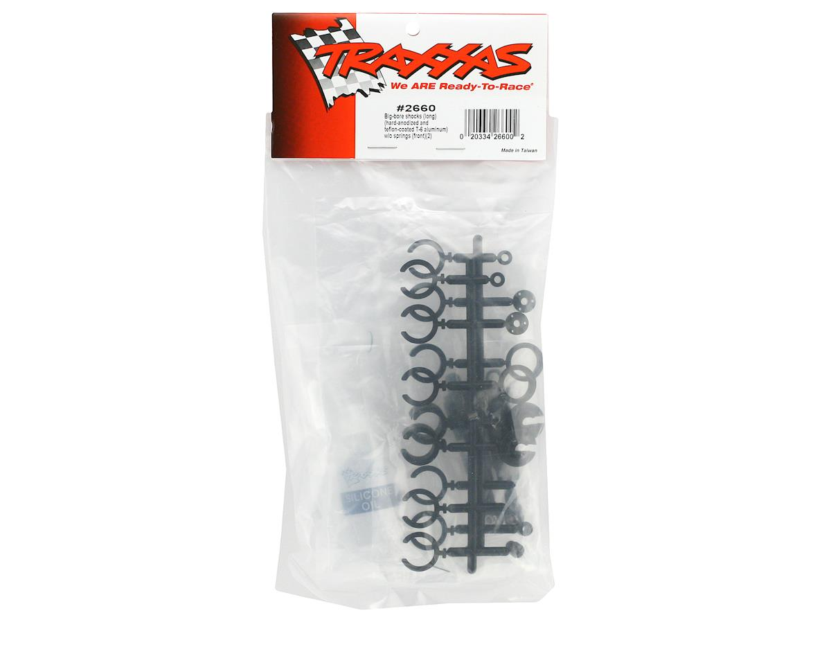Traxxas Hard Anodized Teflon Coated Big Bore Front Shock Set (Long) (2)