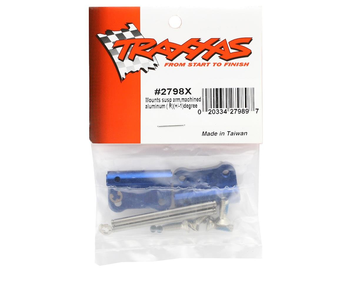Traxxas Aluminum Rear Suspension Mount (Blue) (L&R)