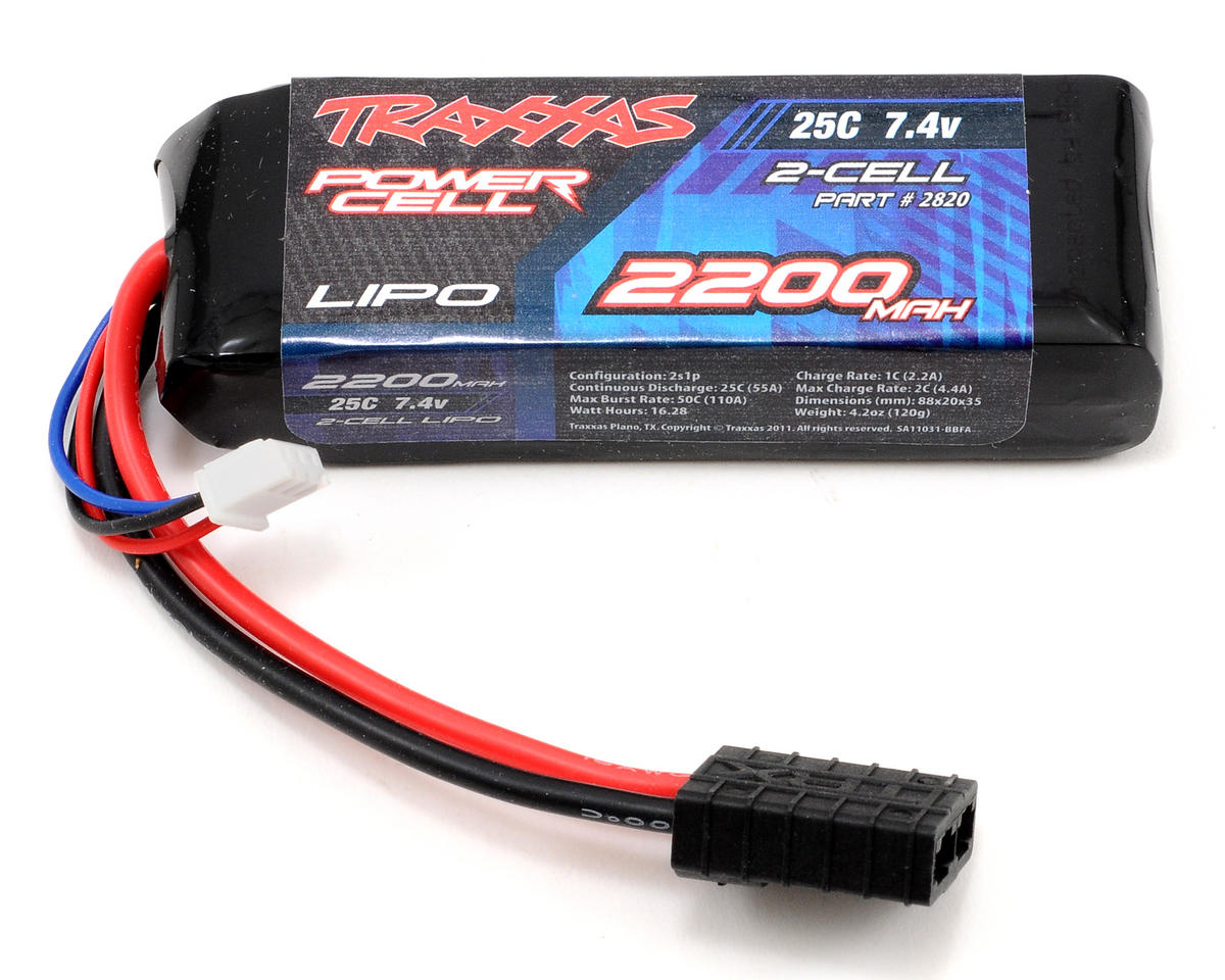 "Traxxas 2S ""Power Cell"" 25C Li-Poly Battery w/Traxxas Connector (7.4V/2200mAh)"