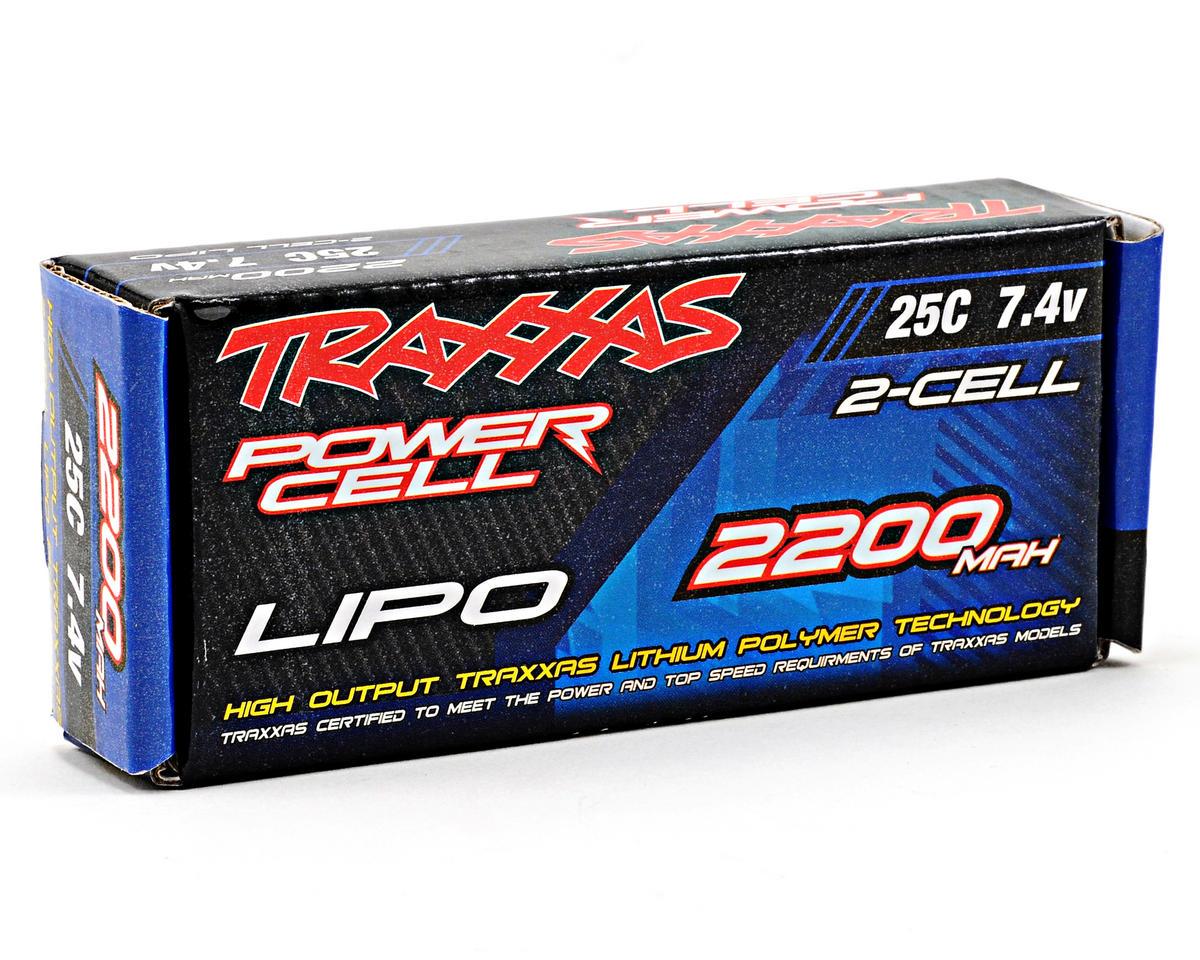 "Traxxas 2S ""Power Cell"" 25C Li-Poly Battery w/Traxxas Connector (7.4V/2200mAh)"