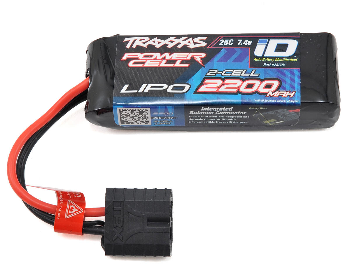 "Traxxas 1/16 E-Revo 2S ""Power Cell"" 25C LiPo Battery w/iD Connector (7.4V/2200mAh)"