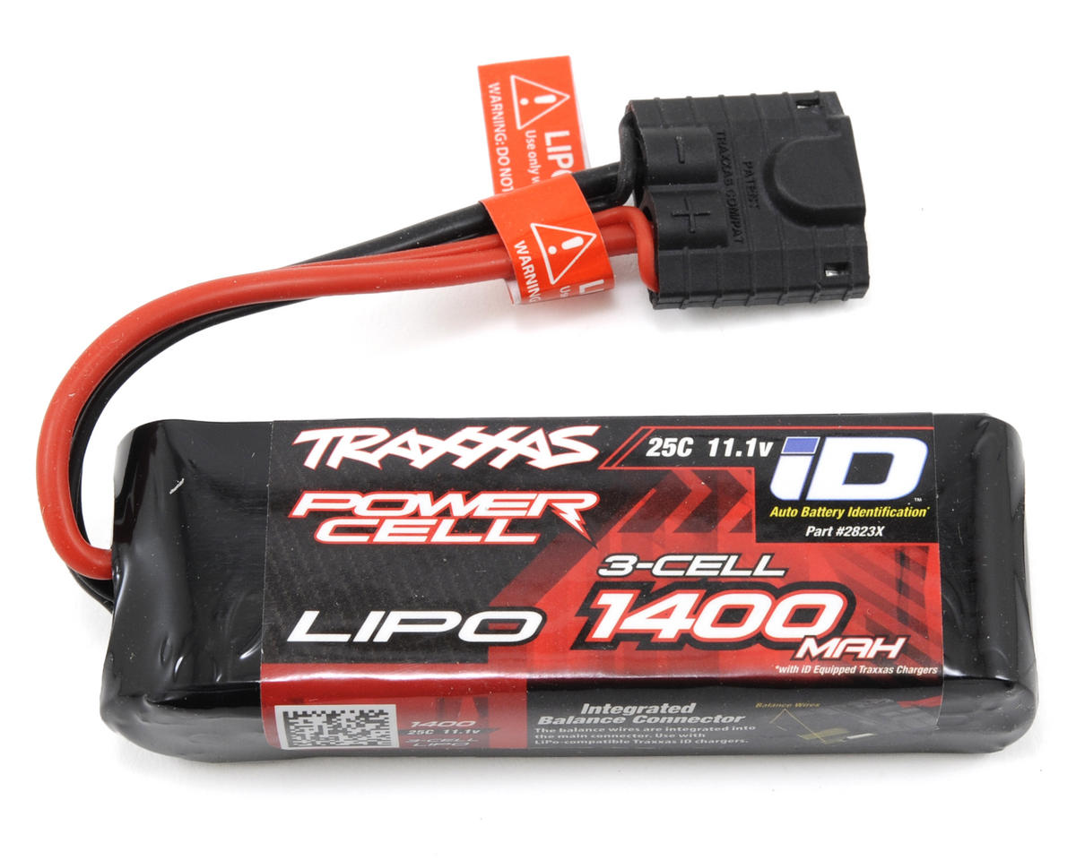 "3S ""Power Cell"" 25C LiPo Battery w/iD Traxxas 1/16 Slash Connector (11.1V/1400mAh) by"