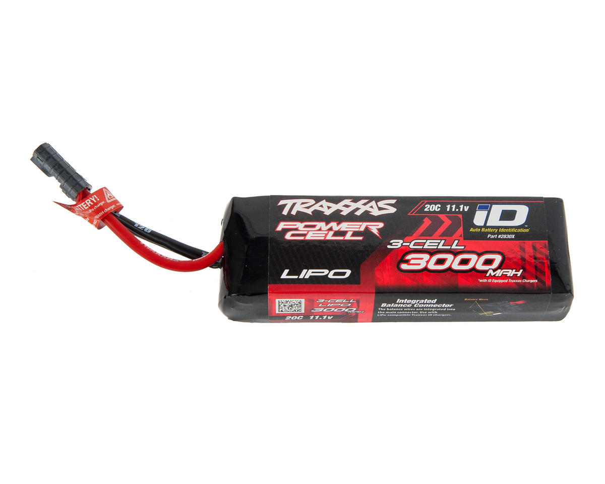"3S ""Power Cell"" 20C LiPo Battery w/iD Traxxas Connector (11.1V/3000mAh) by Traxxas"