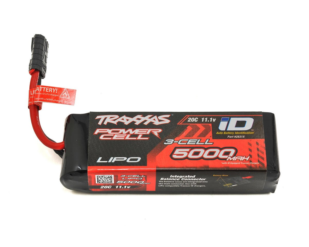 "Traxxas Rustler 3S ""Power Cell"" 20C LiPo Battery w/iD Connector (11.1V/5000mAh)"