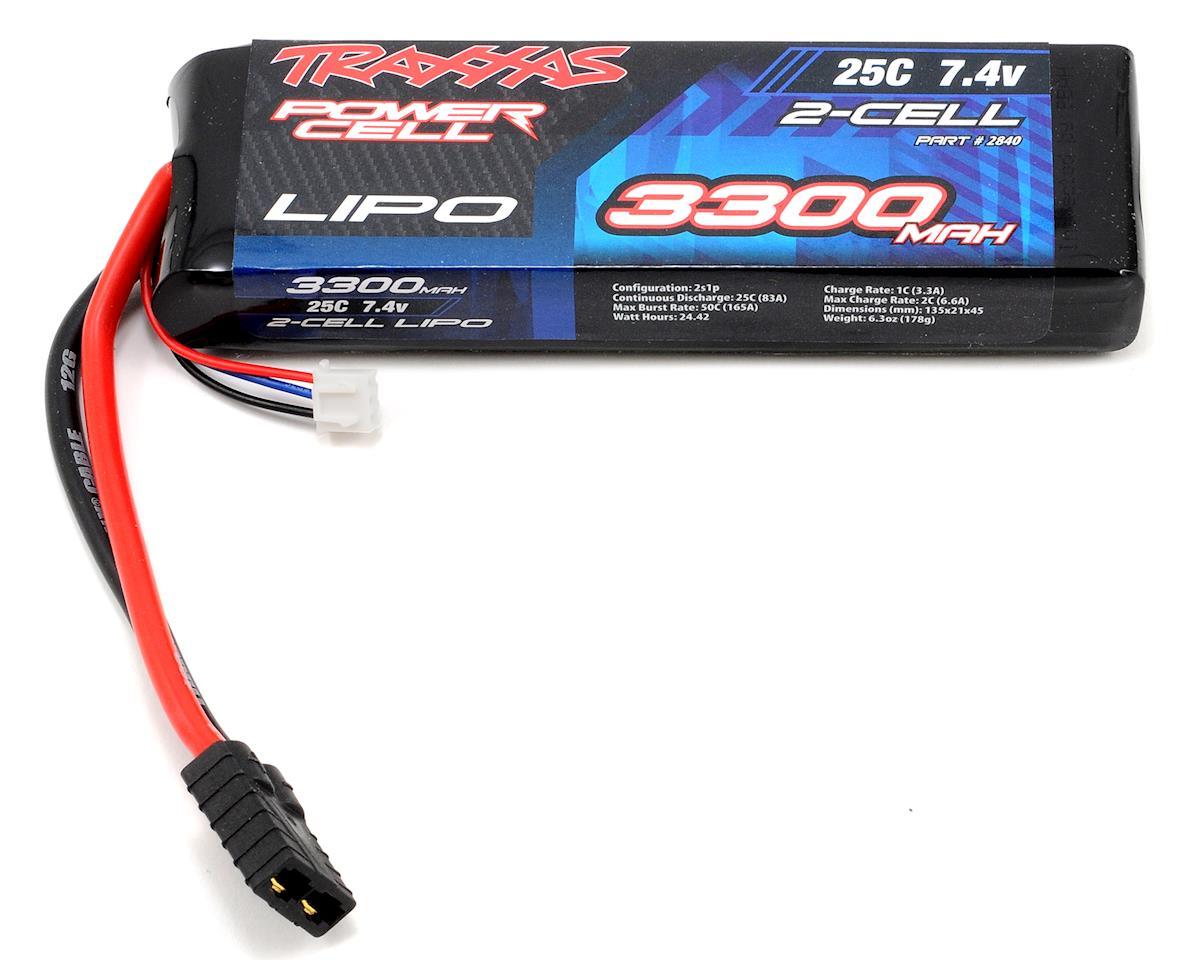 "Traxxas 2S ""Power Cell"" 25C LiPo Battery w/Traxxas Connector (7.4V/3300mAh)"