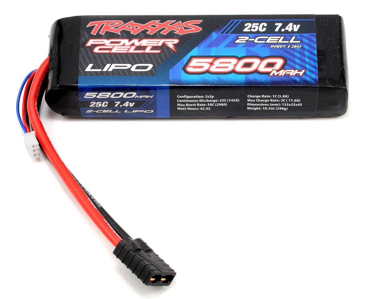 "Traxxas 2S ""Power Cell"" 25C Li-Poly Battery w/Traxxas Connector (7.4V/5800mAh)"