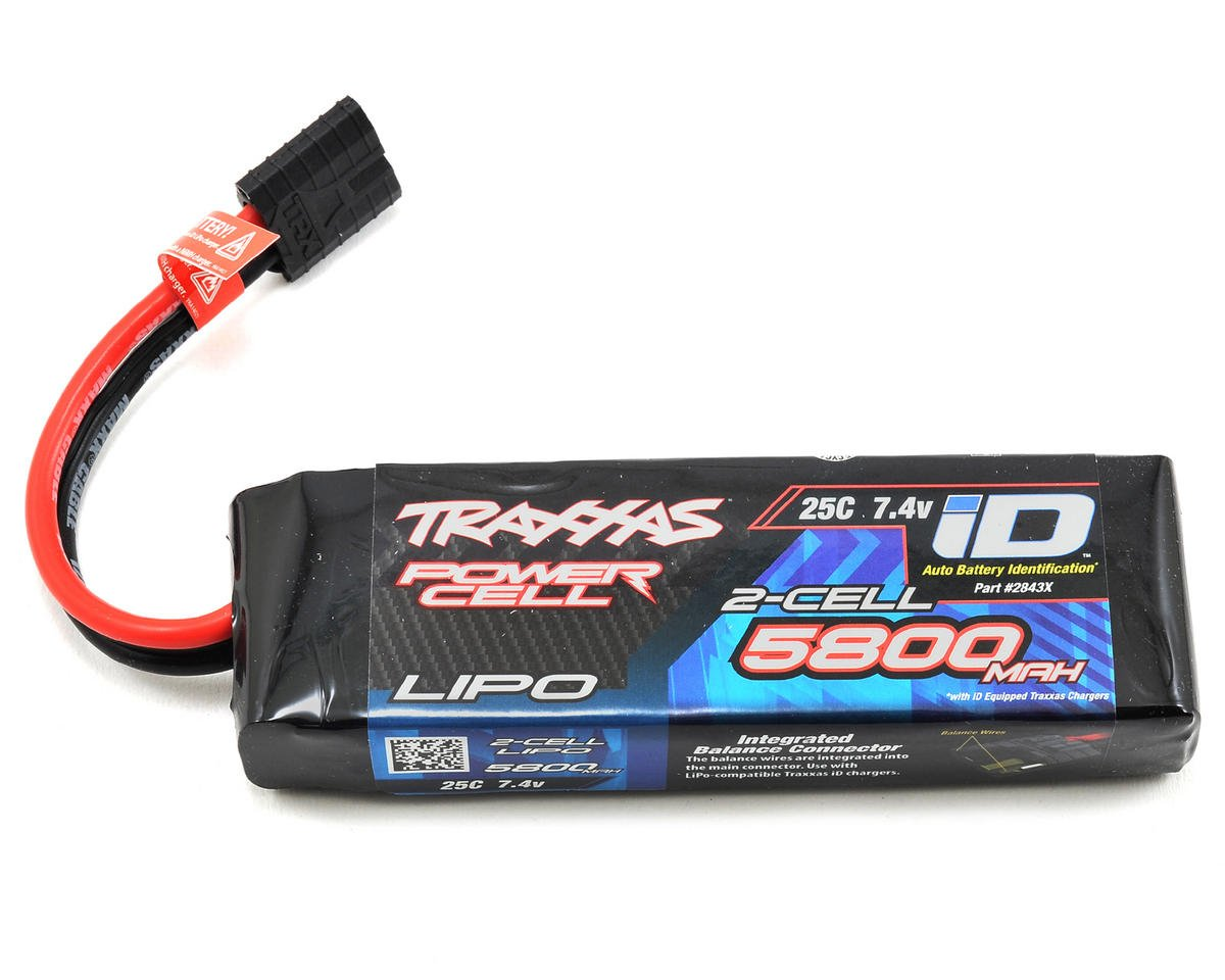 "Traxxas Rustler 2S ""Power Cell"" 25C LiPo Battery w/iD Connector (7.4V/5800mAh)"