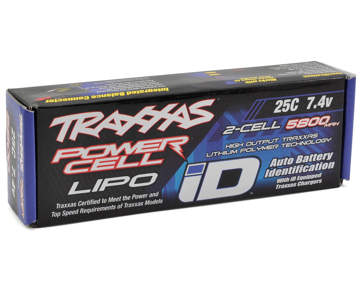 "Image 2 for Traxxas 2S ""Power Cell"" 25C LiPo Battery w/iD Traxxas Connector (7.4V/5800mAh)"