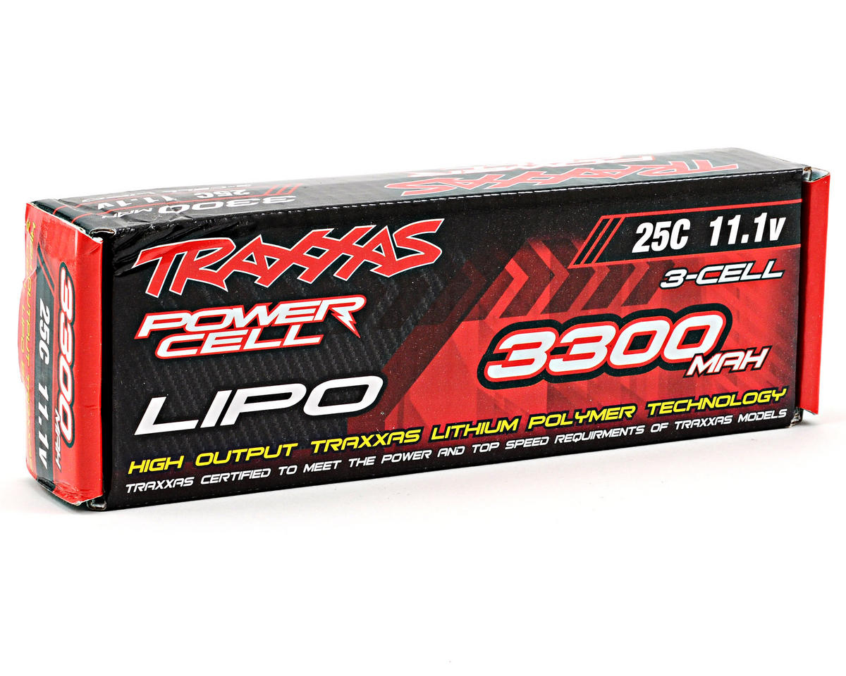 "Traxxas 3S ""Power Cell"" 25C Li-Poly Battery w/Traxxas Connector (11.1V/3300mAh)"