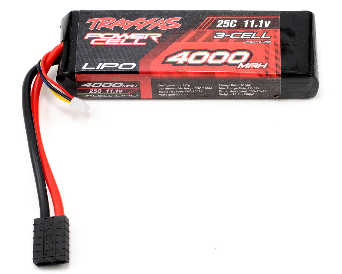 "Traxxas 3S ""Power Cell"" 25C Li-Poly Battery w/Traxxas Connector (11.1V/4000mAh)"