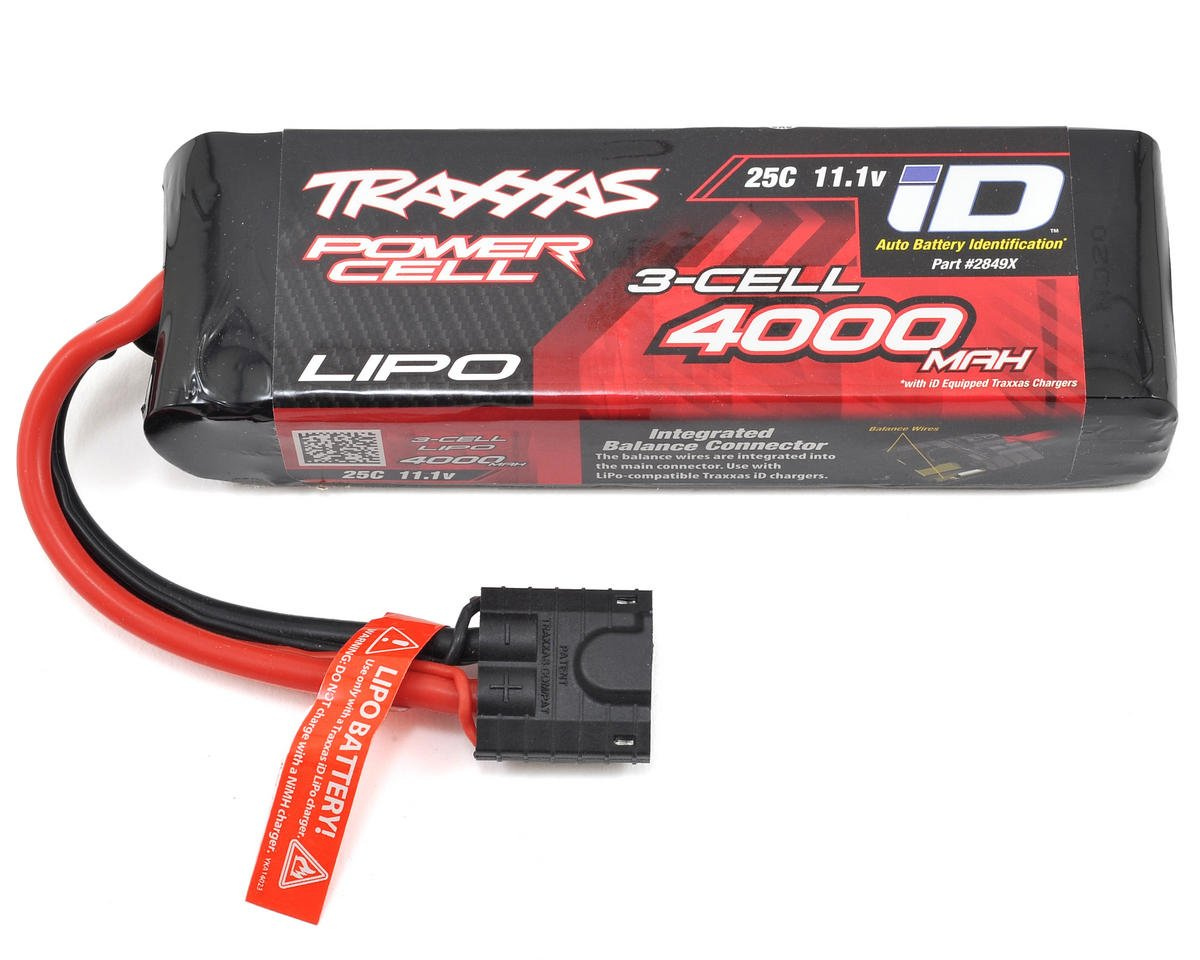 "Traxxas Rustler 3S ""Power Cell"" 25C LiPo Battery w/iD Connector (11.1V/4000mAh)"