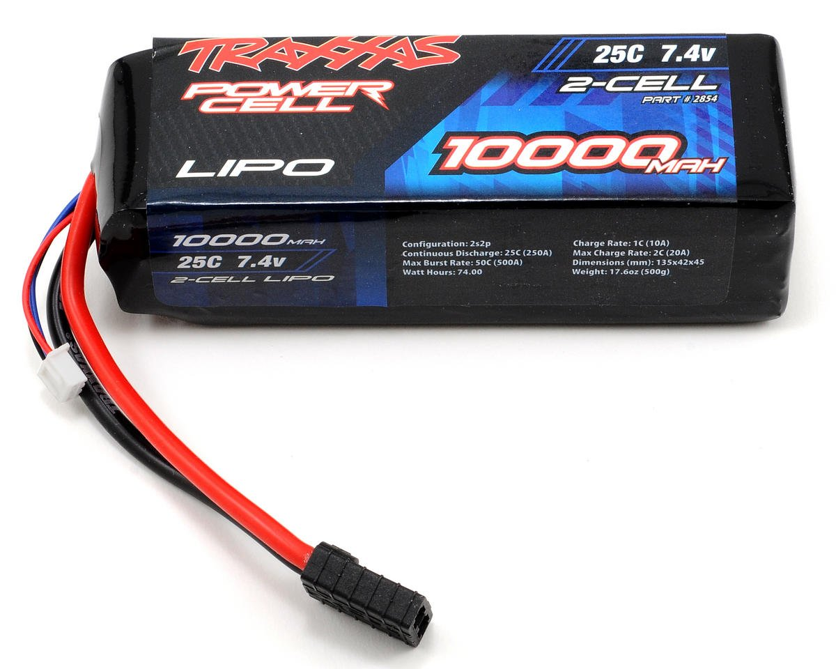 "Traxxas 2S ""Power Cell"" 25C Li-Poly Battery w/Traxxas Connector (7.4V/10,000mAh)"