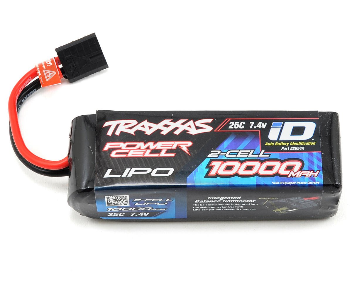"Traxxas Rustler 4x4 2S ""Power Cell"" 25C LiPo Battery w/iD Connector (7.4V/10,000mAh)"