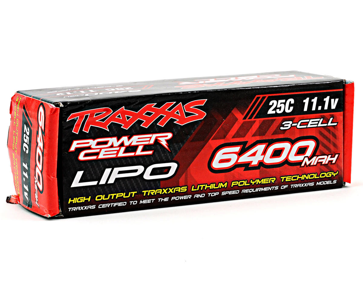 "Traxxas 3S ""Power Cell"" 25C Li-Poly Battery w/Traxxas Connector (11.1V/6400mAh)"