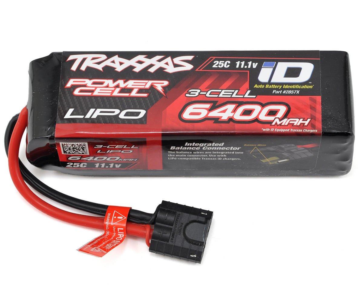"Traxxas 3S ""Power Cell"" 25C LiPo Battery w/iD Traxxas Connector (11.1V/6400mAh)"