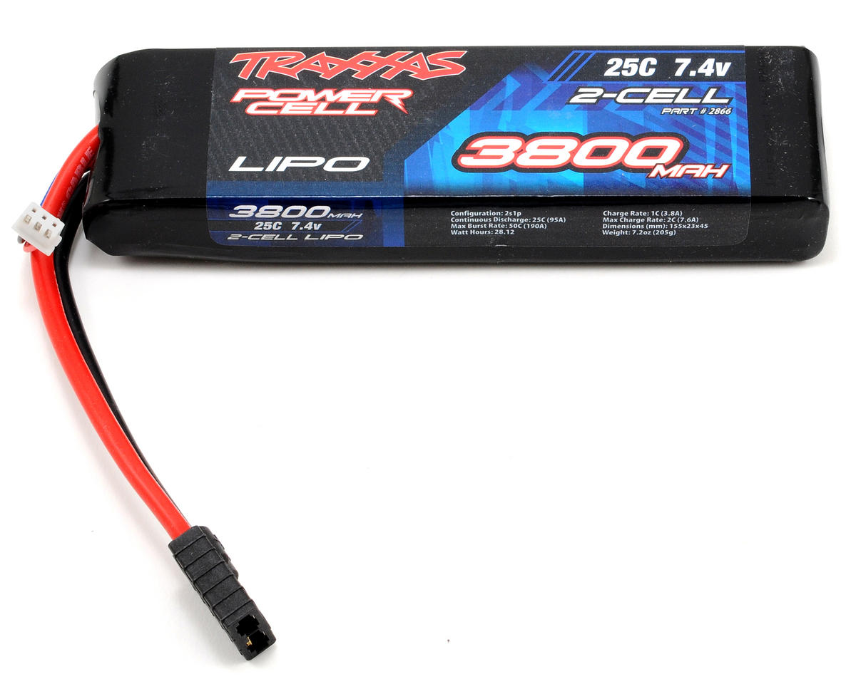 "Traxxas 2S ""Power Cell"" 25C LiPo Battery w/Traxxas Connector (7.4V/3800mAh)"