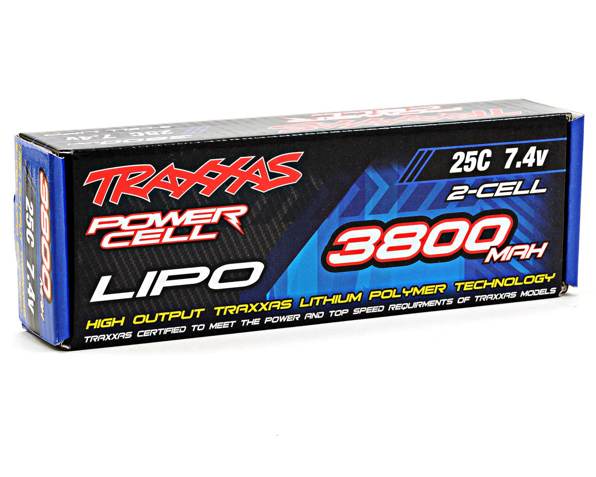 "2S ""Power Cell"" 25C LiPo Battery w/Traxxas Connector (7.4V/3800mAh) by Traxxas"