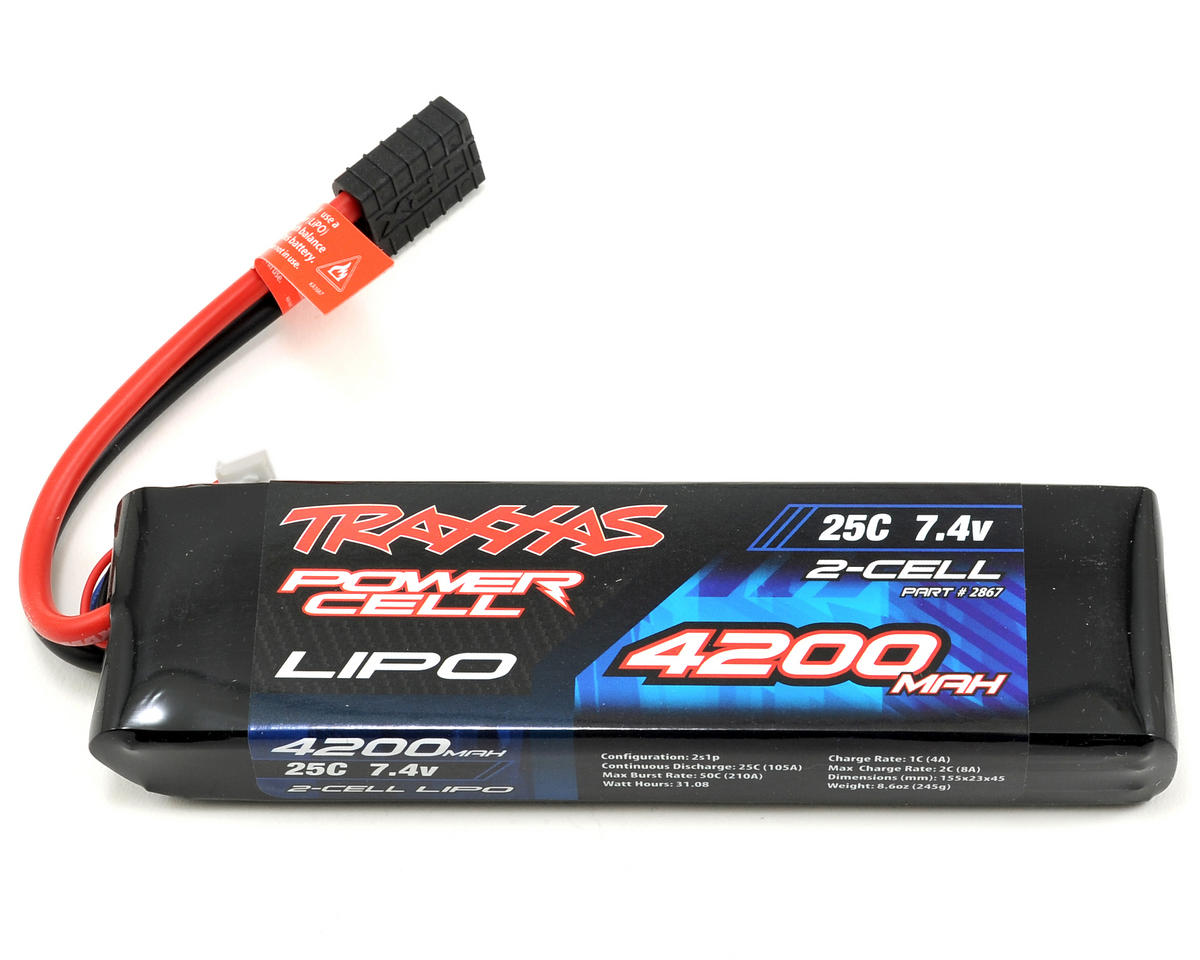 "Traxxas 2S ""Power Cell"" 25C Li-Poly Battery w/Traxxas Connector (7.4V/4200mAh)"