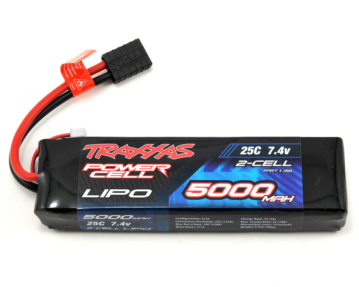 "Traxxas 2S ""Power Cell"" 25C Li-Poly Battery w/Traxxas Connector (7.4V/5000mAh)"