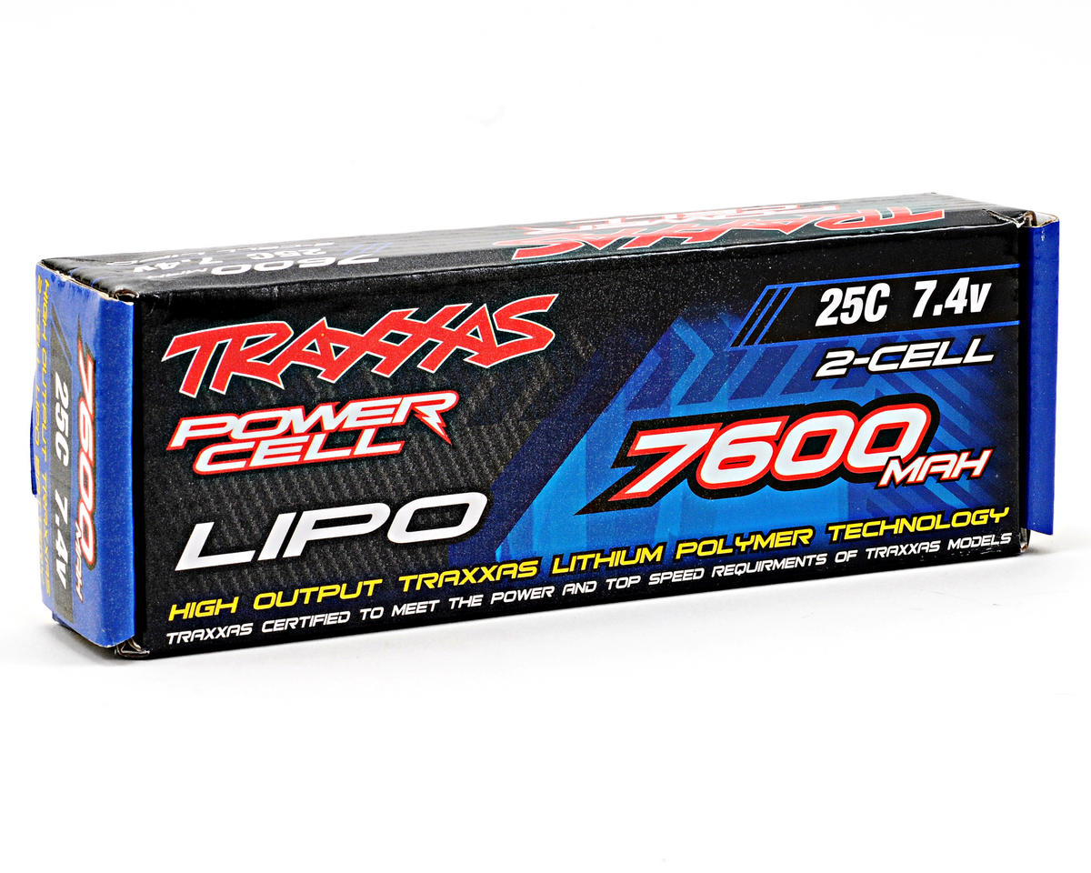 "Traxxas 2S ""Power Cell"" 25C Li-Poly Battery w/Traxxas Connector (7.4V/7600mAh)"
