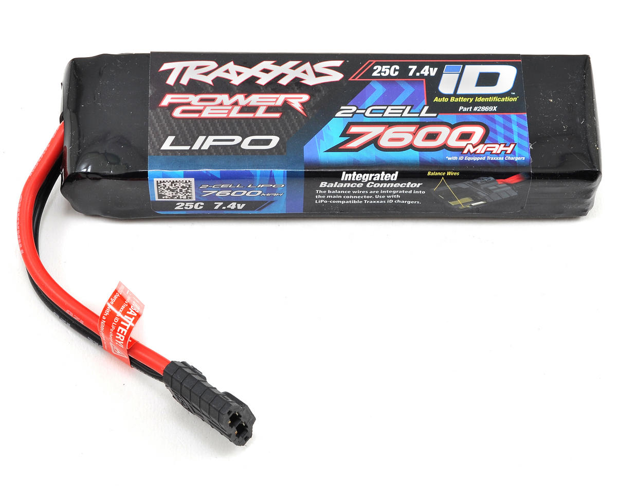 "Traxxas 2S ""Power Cell"" 25C LiPo Battery w/iD Traxxas Connector (7.4V/7600mAh)"