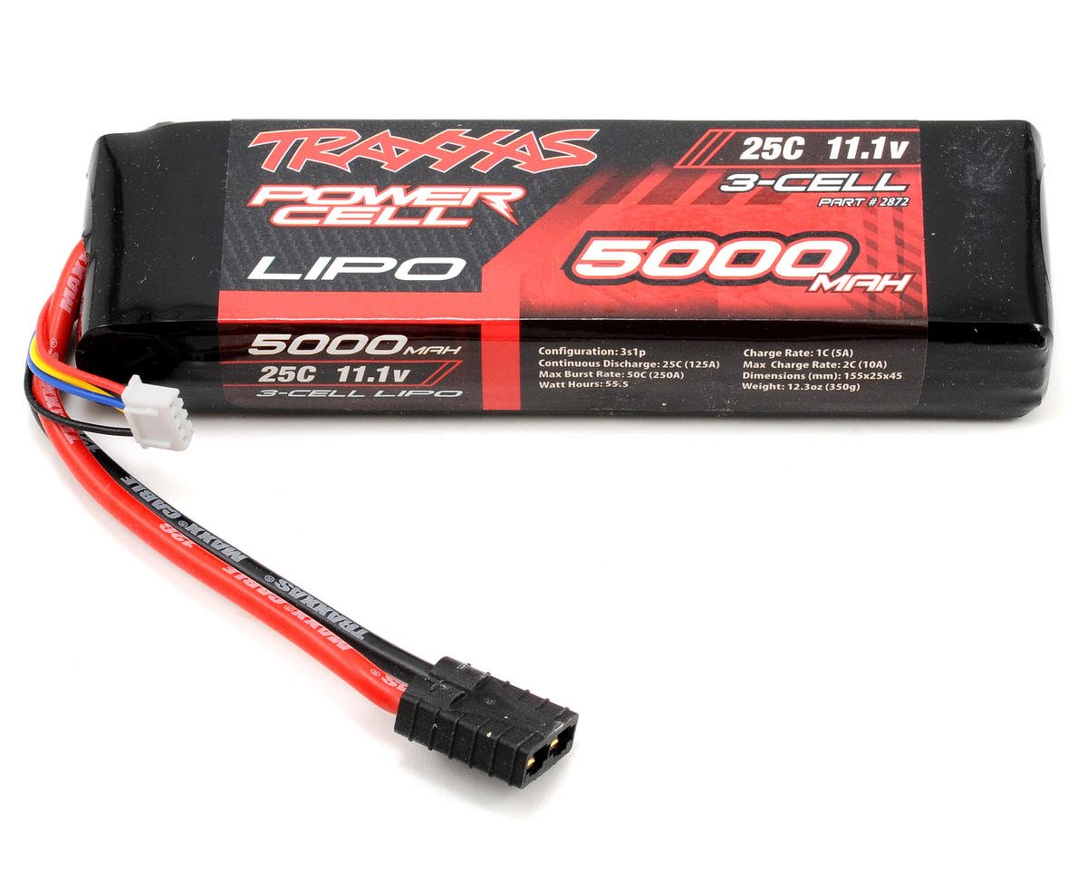 "Traxxas 3S ""Power Cell"" 25C Li-Poly Battery w/Traxxas Connector (11.1V/5000mAh)"