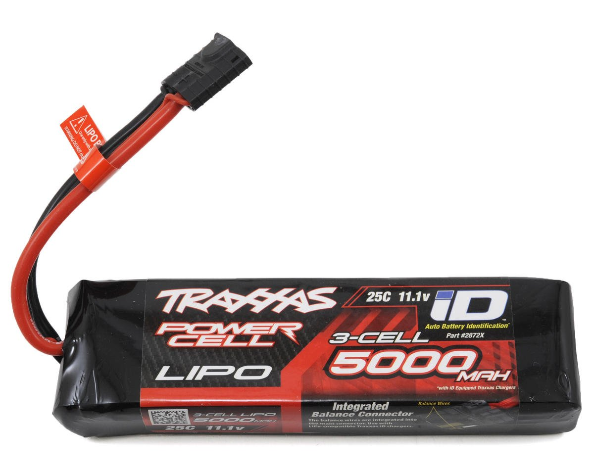 "Image 1 for Traxxas 3S ""Power Cell"" 25C LiPo Battery w/iD Traxxas Connector (11.1V/5000mAh)"