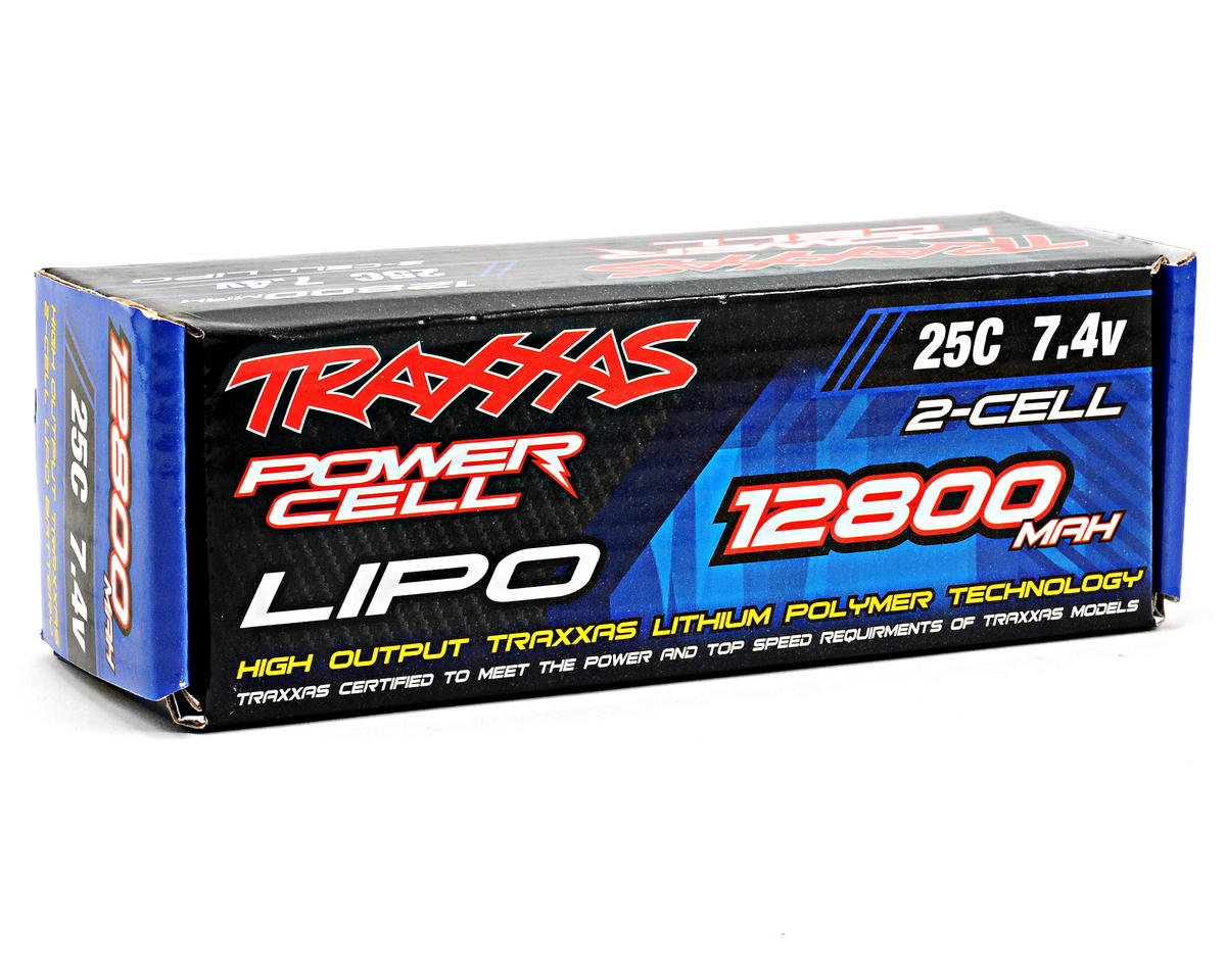 "Traxxas 2S ""Power Cell"" 25C Li-Poly Battery w/Traxxas Connector (7.4V/12,800mAh)"