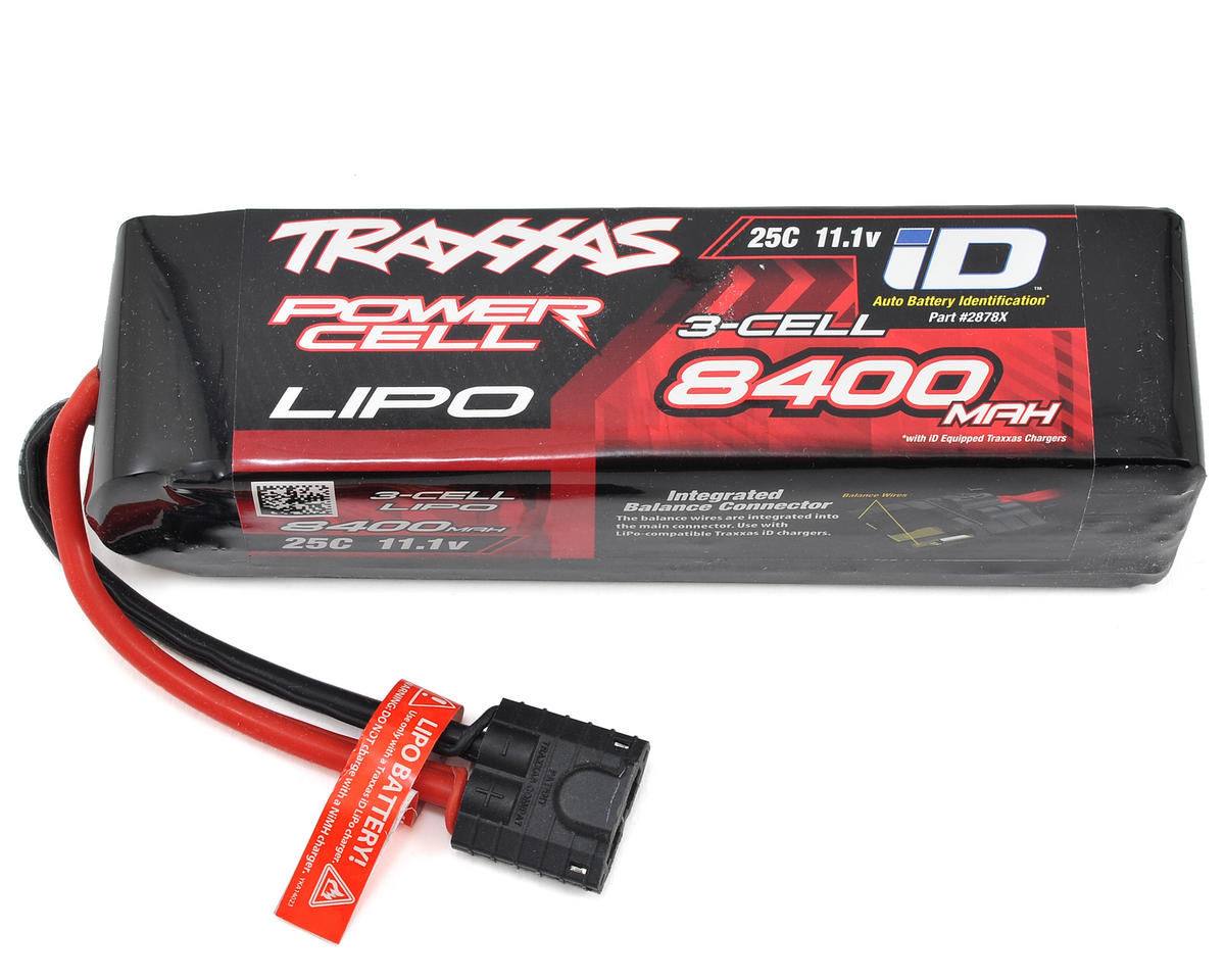 "3S ""Power Cell"" 25C LiPo Battery w/iD Traxxas Connector (11.1V/8400mAh) by Traxxas"
