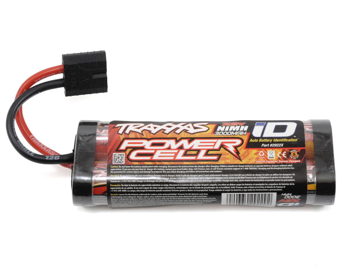 Power Cell 6-Cell Stick NiMH Battery Pack w/iD Connector (7.2V/3000mAh) by Traxxas