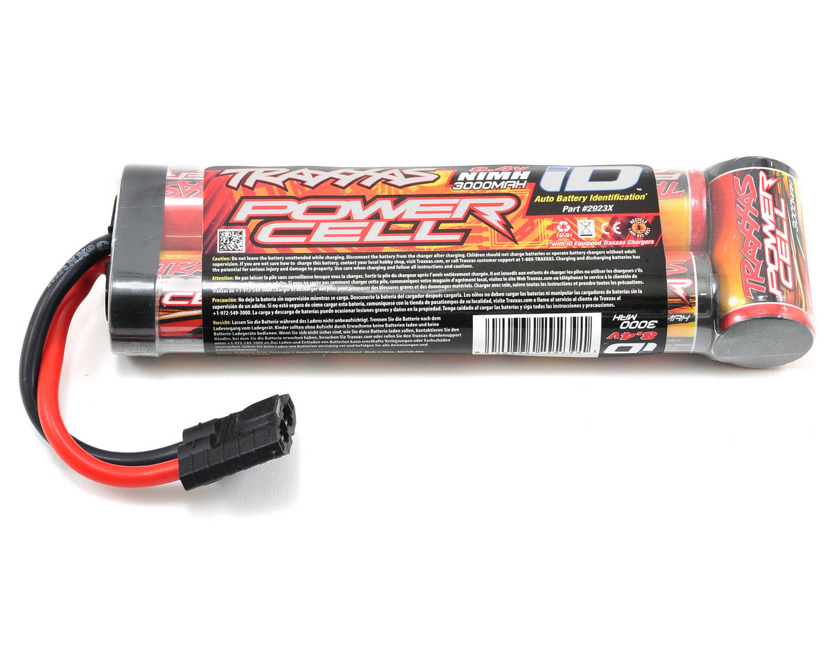 Power Cell 7-Cell Stick NiMH Battery Pack w/iD Connector (8.4V/3000mAh) by Traxxas