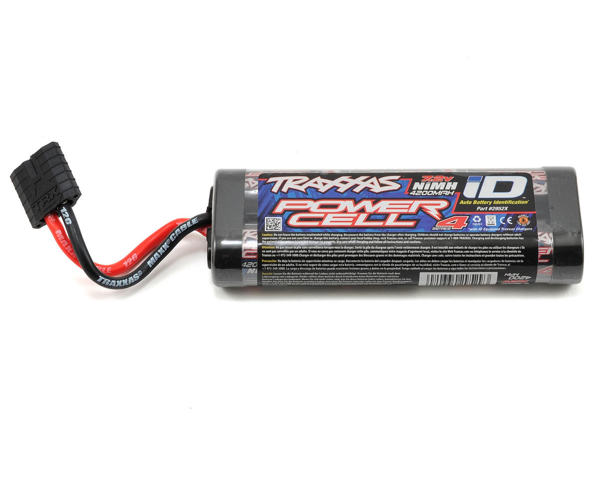 Series 4 6-Cell Flat NiMH Battery Pack w/iD Connector (7.2V/4200mAh) by Traxxas