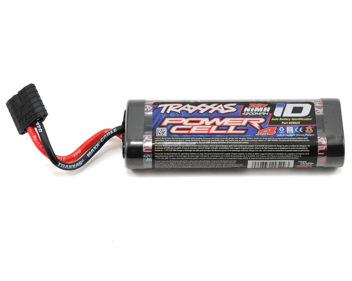 Series 4 6-Cell Flat NiMH Battery Pack w/iD Connector (7.2V/4200mAh) by Traxxas Villain EX