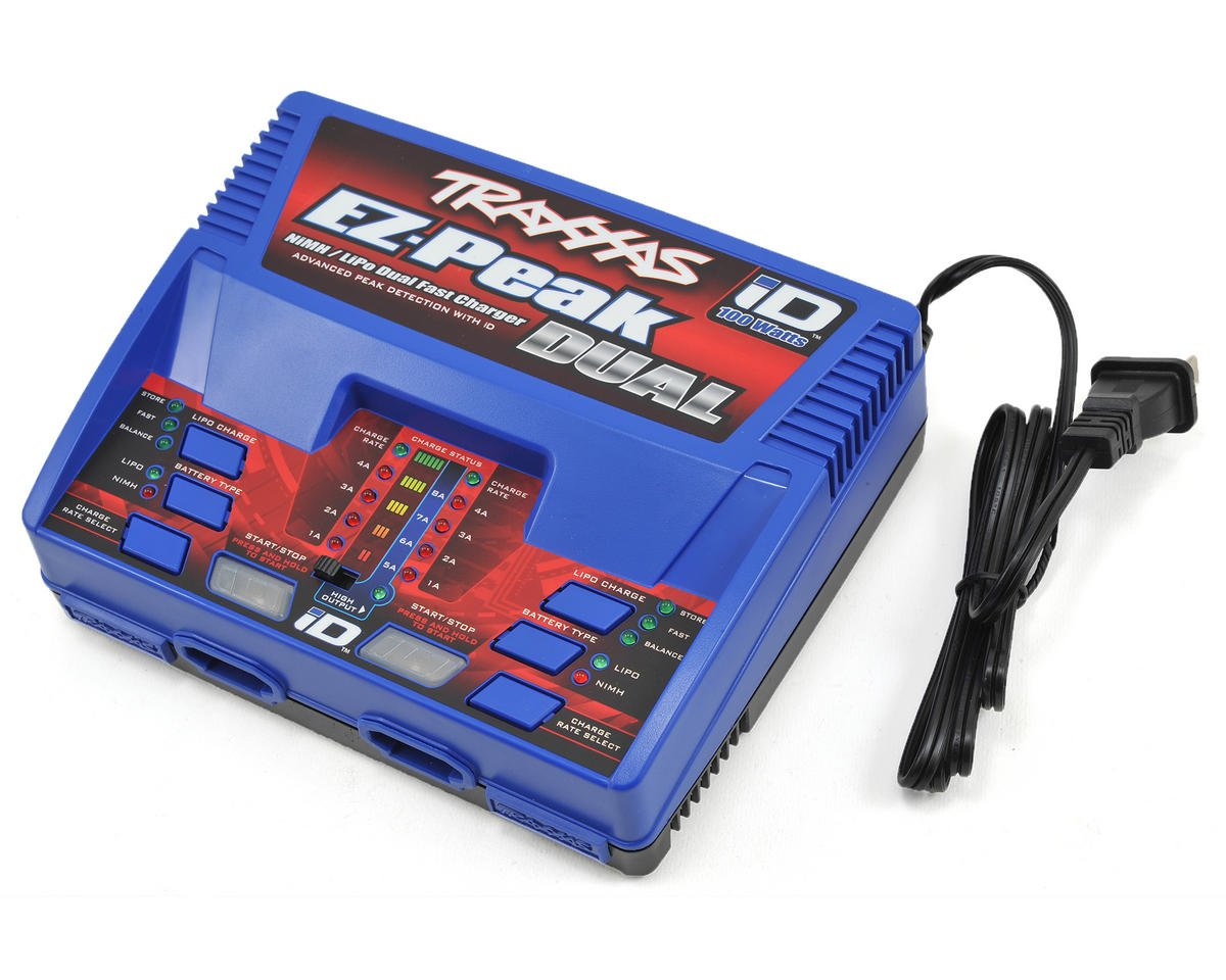 EZ-Peak Dual Multi-Chemistry Battery Charger w/Auto iD (3S/8A/100W) by Traxxas