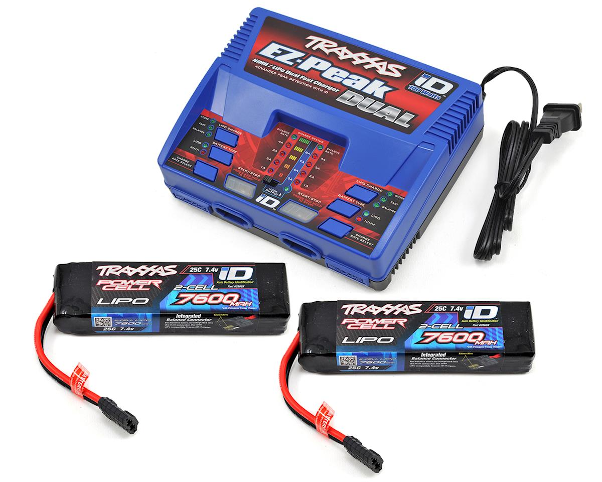 "Traxxas Slash 4x4 Ultimate EZ-Peak 2S ""Completer Pack"" Dual Multi-Chemistry Battery Charger"