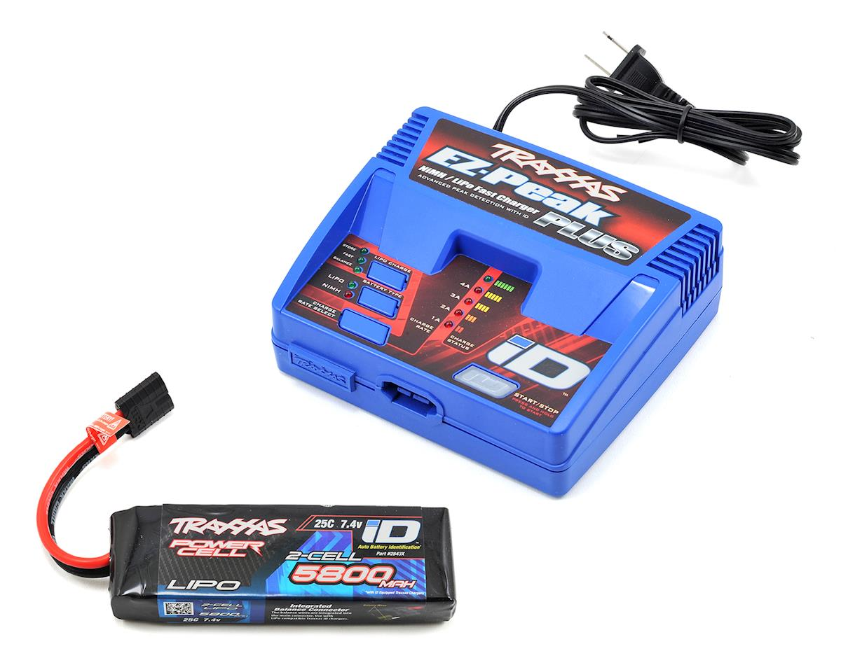 "Traxxas Rustler 4x4 EZ-Peak 2S Single ""Completer Pack"" Multi-Chemistry Battery Charger"
