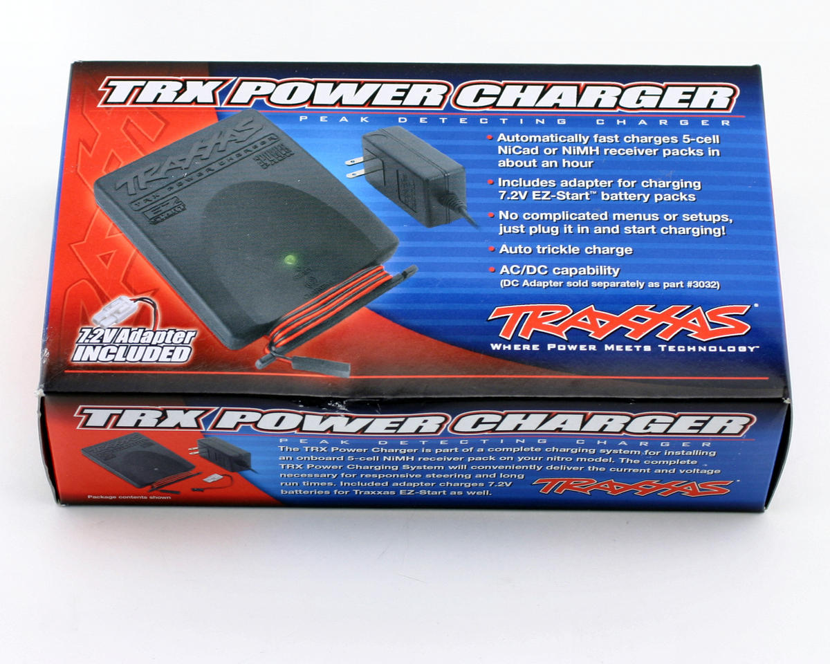 Traxxas RX Power Charger, peak detecting AC adapter (NiCd/NiMh 5-cell receiver and 6-cell stick