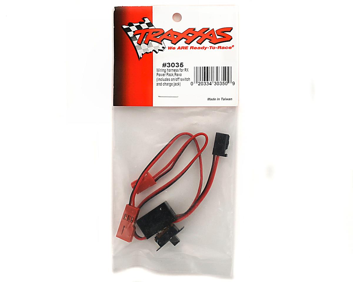 Traxxas Rx Power Pack Wiring Harness Revo Tra3035 Cars Pro Comp Includes On Off Switch And Charge Jack
