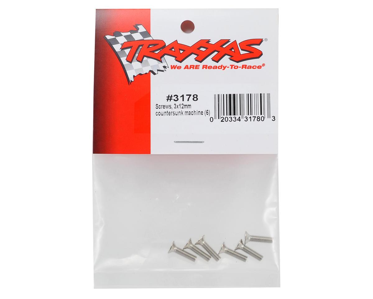 Traxxas 3x12mm Flat Head Machine Screw (6)
