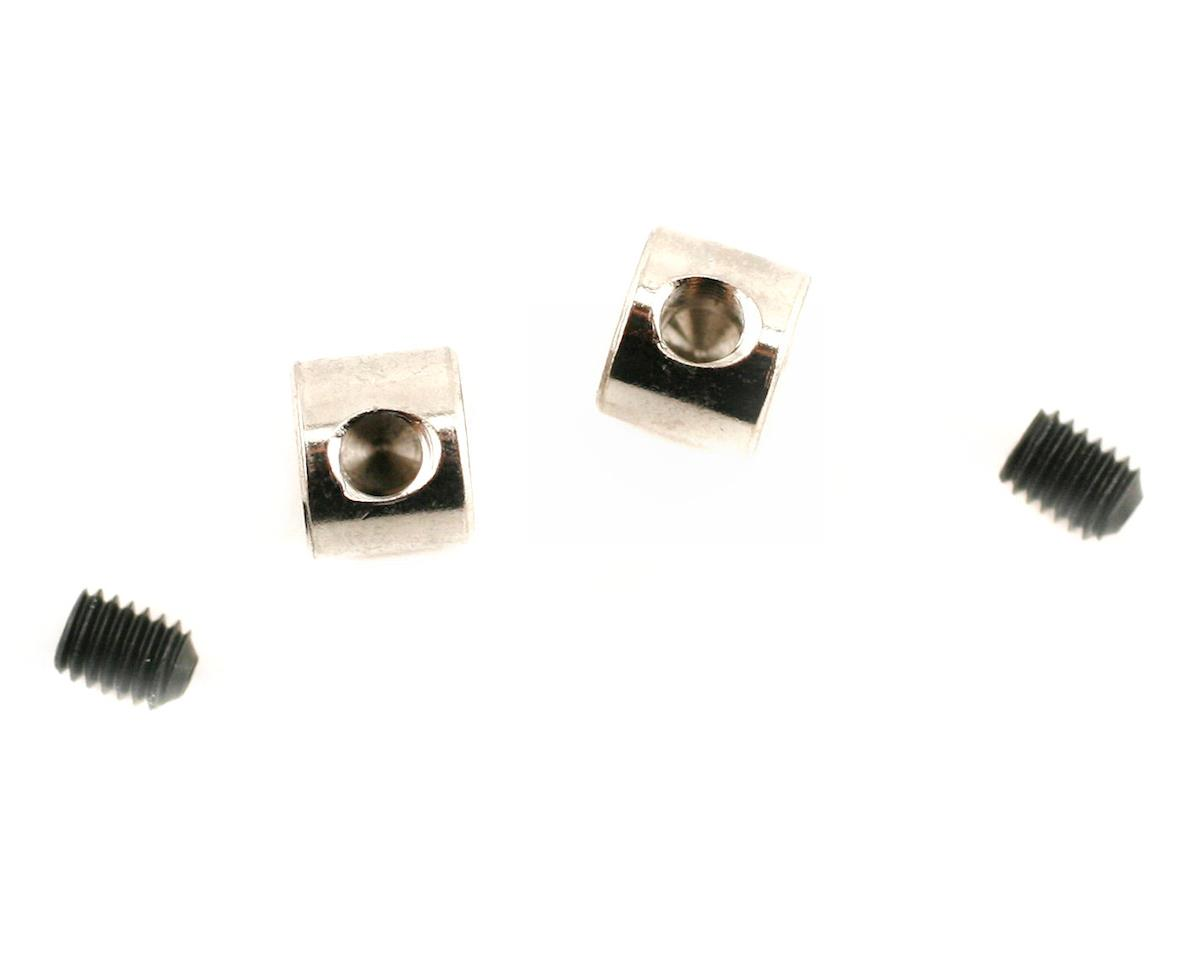 Traxxas Collars, screw (2)/ grub screws, 3mm (2)