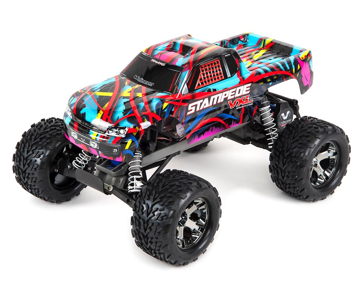 Stampede VXL 1/10 RTR 2WD Monster Truck (Hawaiian Edition) by Traxxas