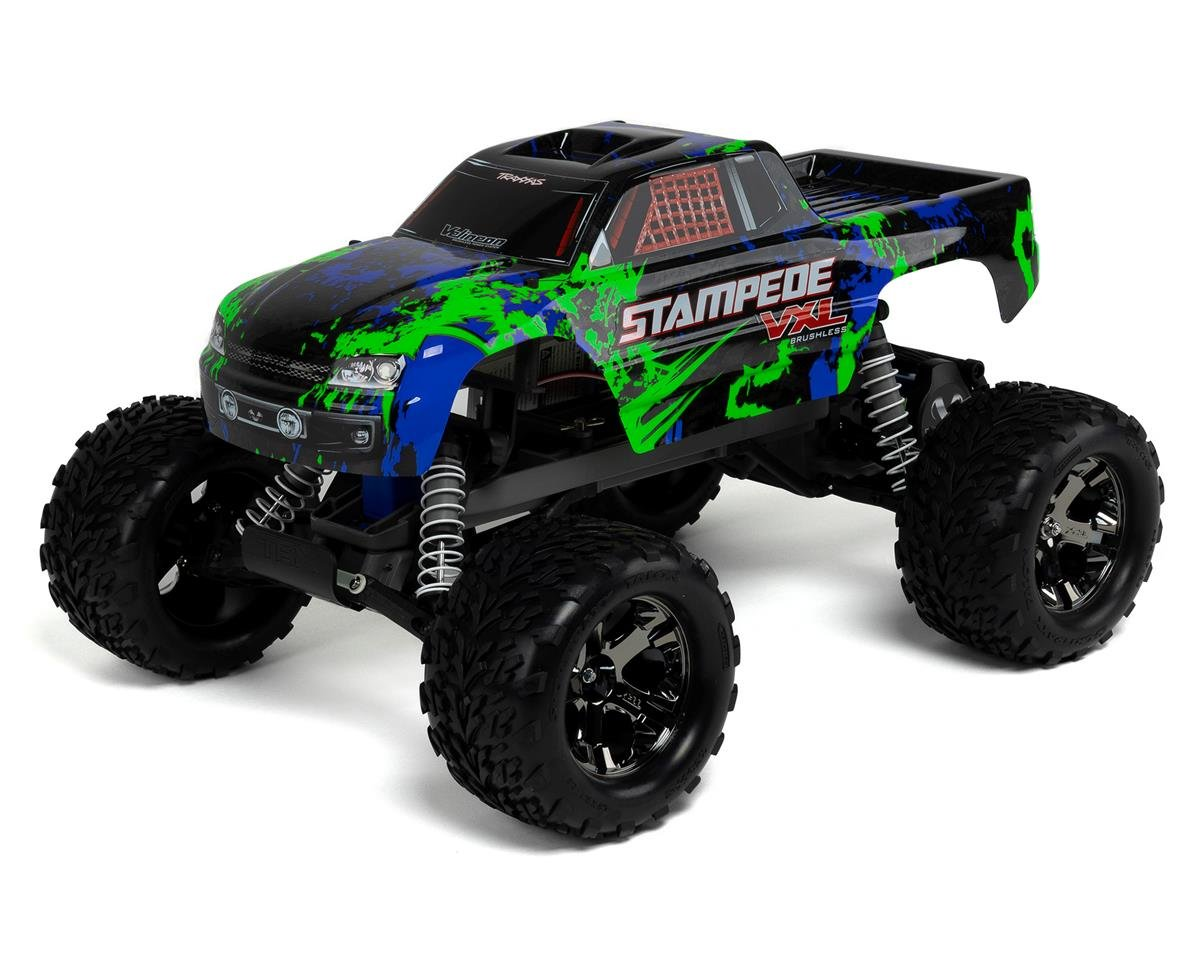 Traxxas Stampede VXL Brushless 1/10 RTR 2WD Monster Truck (Green)