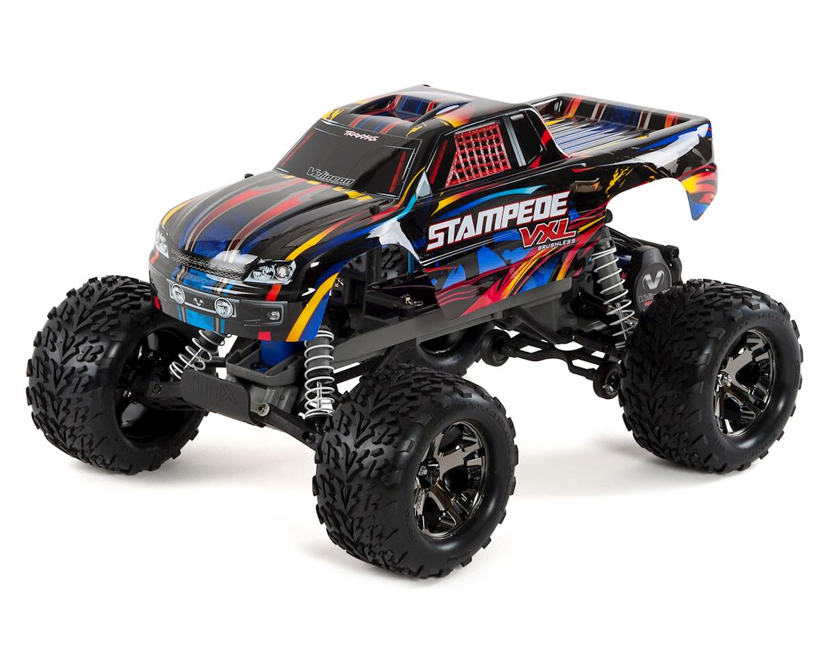 Stampede VXL Brushless 1/10 RTR 2WD Monster Truck (Rock n Roll) by Traxxas