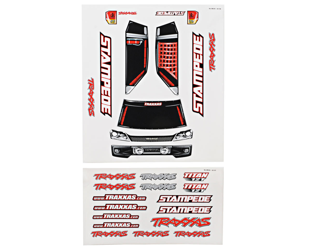 Traxxas Stampede Decal Sheet