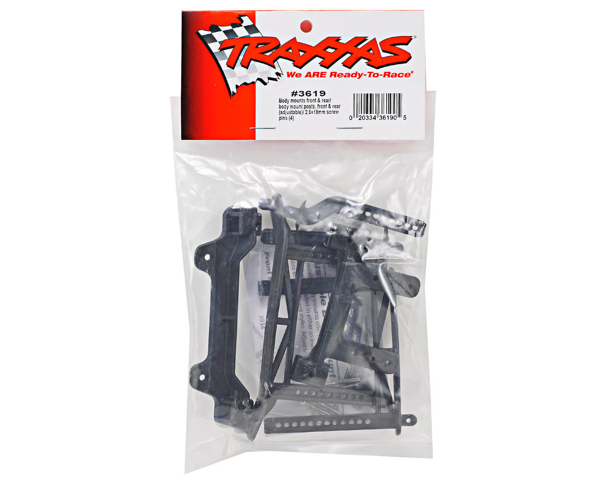 Traxxas Adjustable Front/Rear Body Mount Set (Monster Jam)