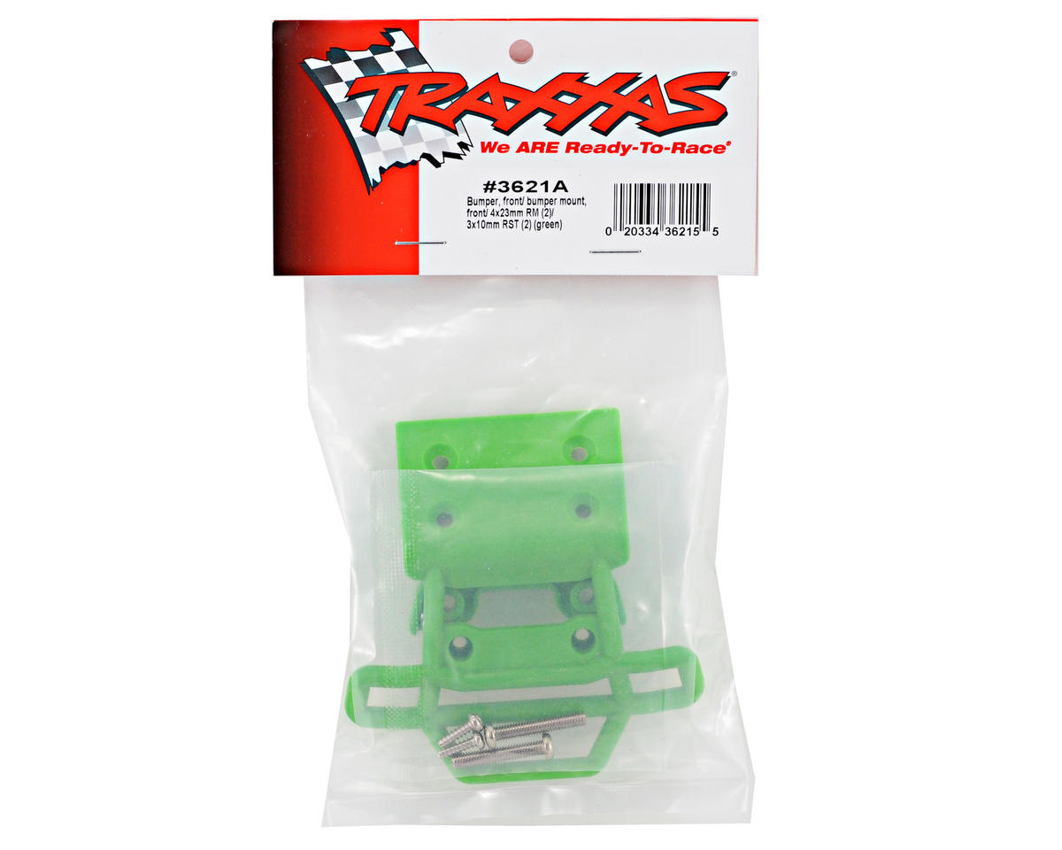 Traxxas Front Bumper & Mount (Green) (Grave Digger)