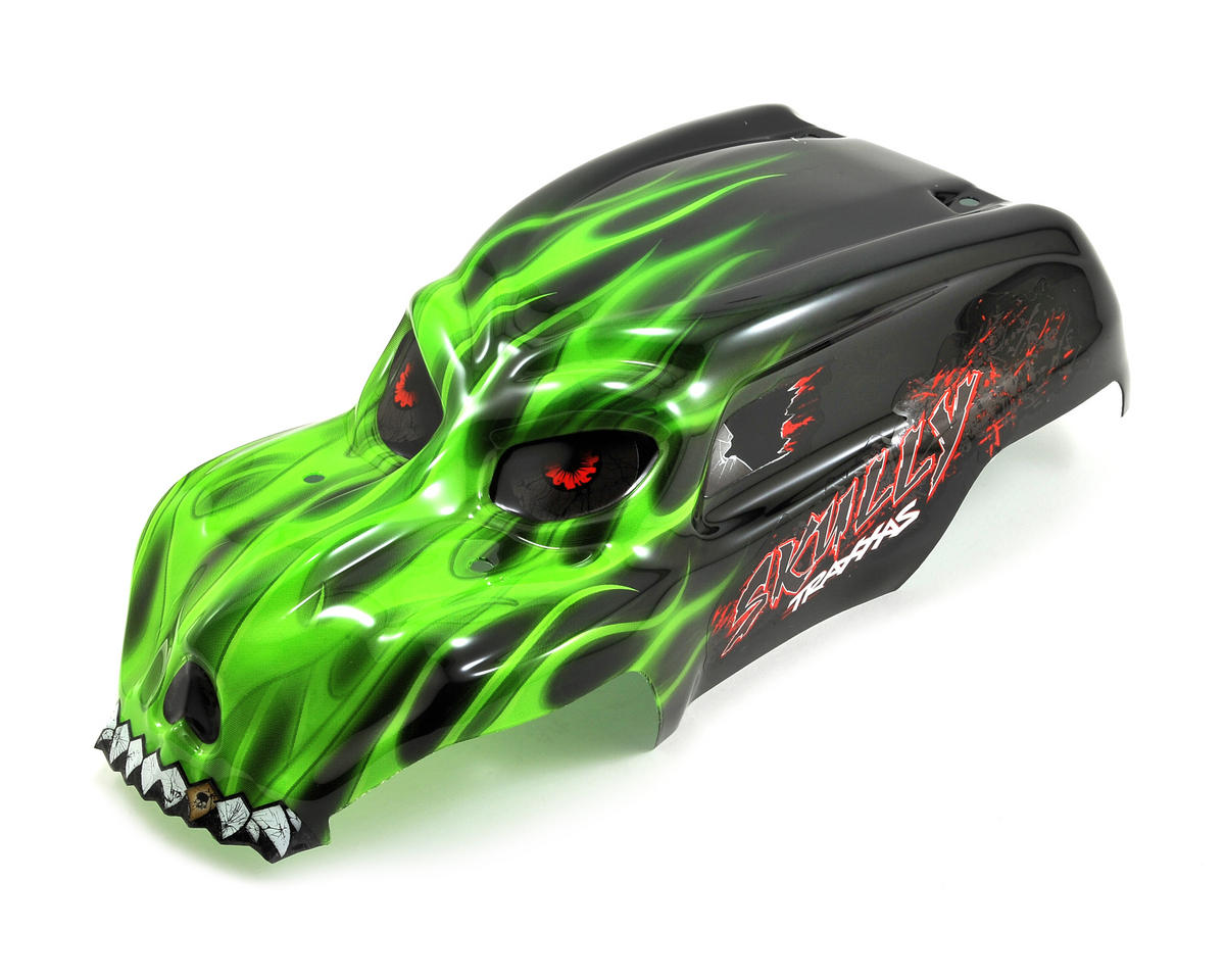 Skully Pre-Painted Body w/Decals (Green) by Traxxas