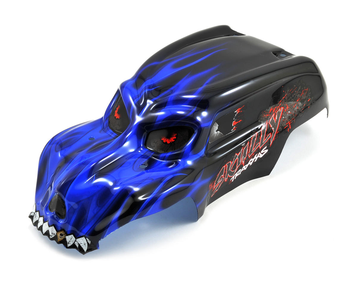 Skully Pre-Painted Body w/Decals (Blue) by Traxxas