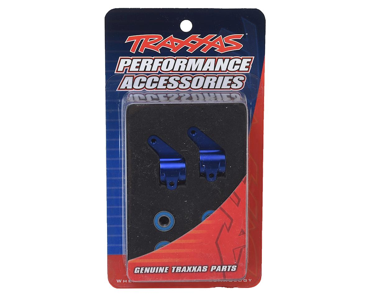 Traxxas Aluminum Steering Blocks w/Ball Bearings (Blue) (2)