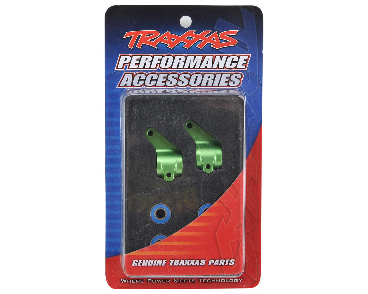 Traxxas Aluminum Steering Blocks w/Ball Bearings (Green) (2)